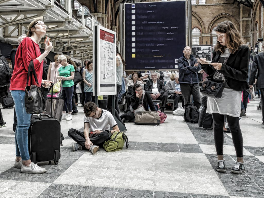 People watching at Liverpool Street Station